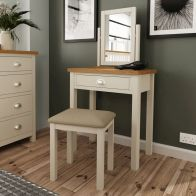 See more information about the Westbridge Light Oak & Dove Grey 1 Drawer Dressing Table