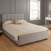 See more information about the Regal Grey Fabric End Lift Ottoman King Size 5ft Bed Frame