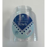 See more information about the Essential Round Scroll Design Bowl Clear Plastic 10 oz (20 Pack)