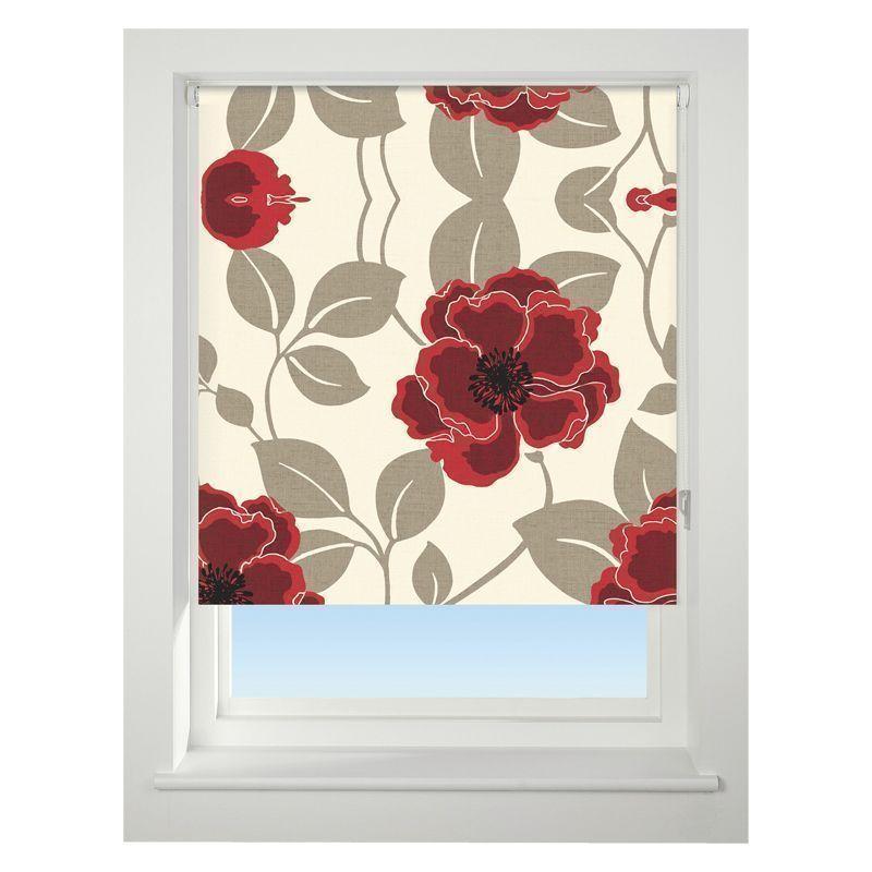 universal 150cm red papervero blackout roller blind buy. Black Bedroom Furniture Sets. Home Design Ideas