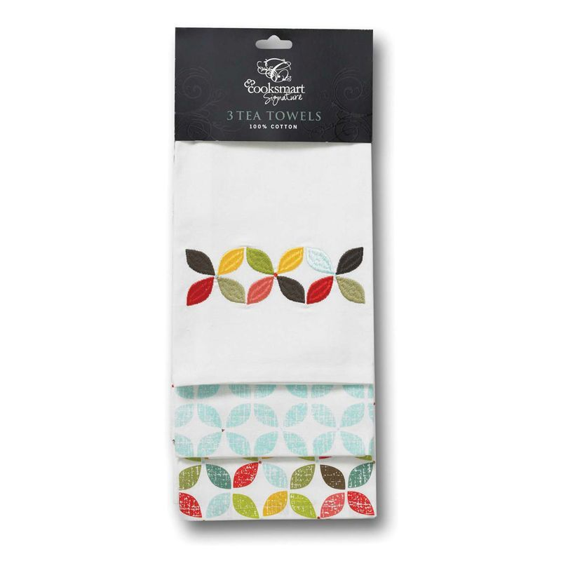 Retro Kitchen Linens: Retro Kitchen Tea Towels (3 Pack)
