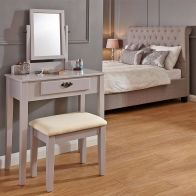 See more information about the Matilda Dressing Table Grey & Pine 1 Drawer