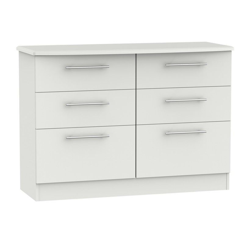 Colby Grey Chest Of 6 Drawers