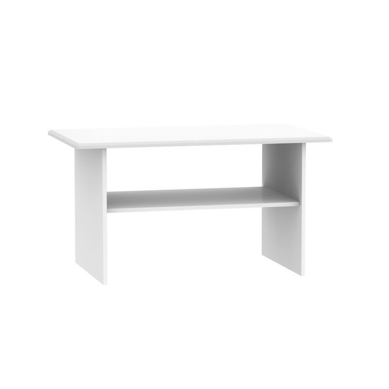 Colby Coffee Table White 1 Shelf