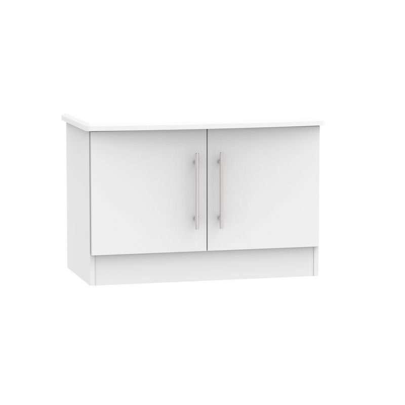 Colby Low Cabinet White 2 Door