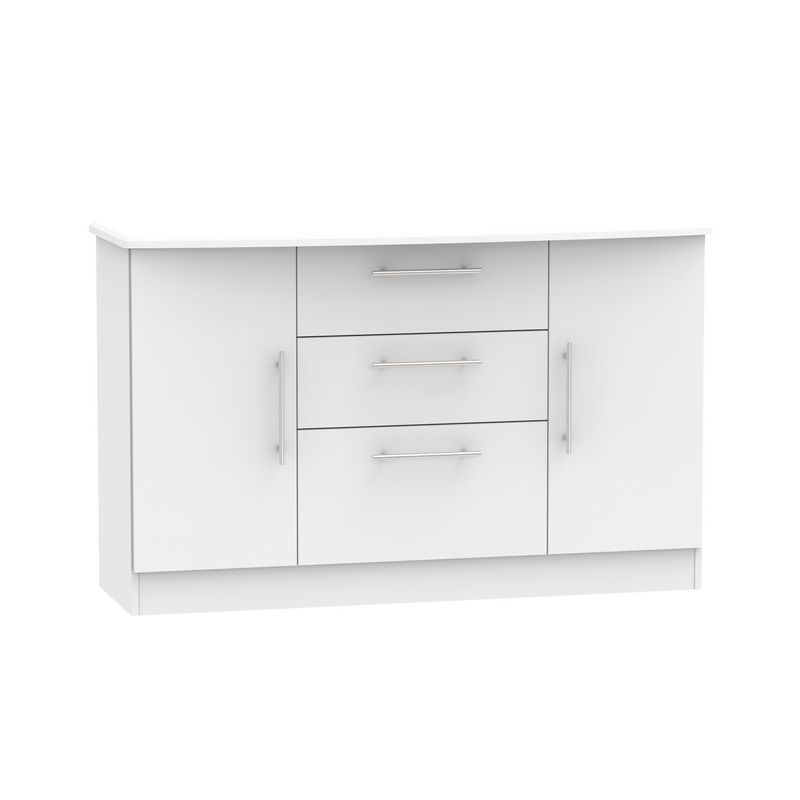 Colby Sideboard White 2 Door 3 Drawer
