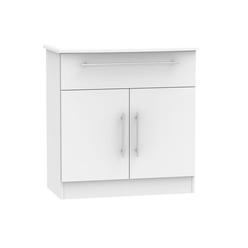 Colby Sideboard White 2 Door 1 Drawer