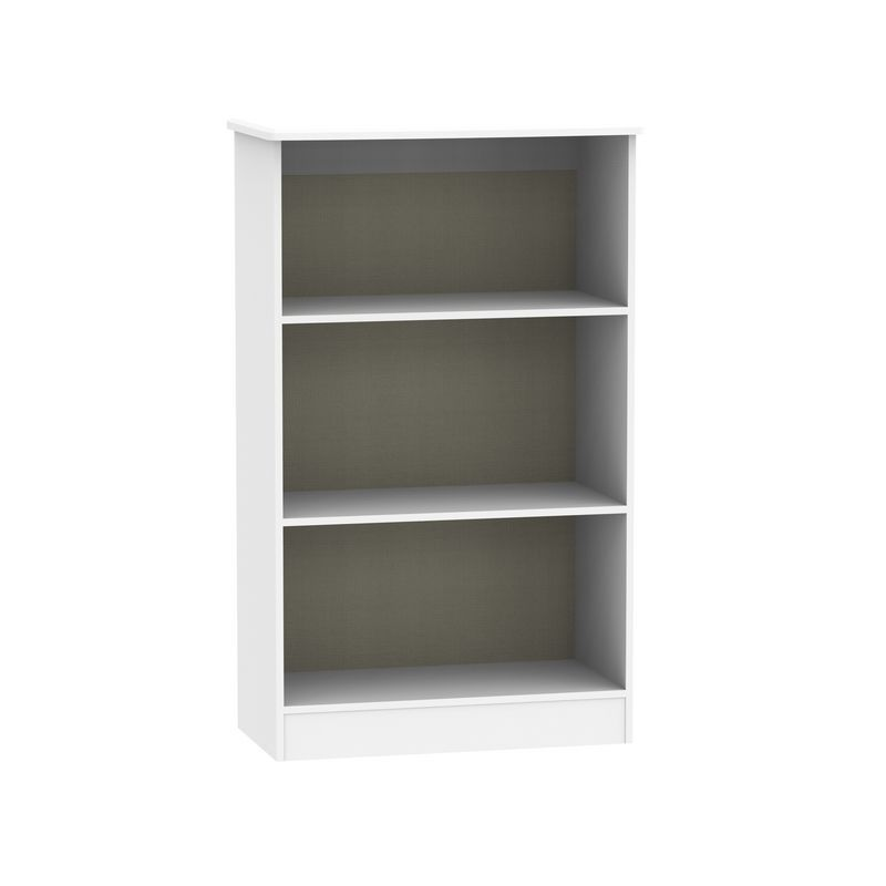 Colby Bookcase White 3 Shelf