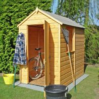 See more information about the Shire Shetland Shiplap Apex Garden Shed 6' x 4'
