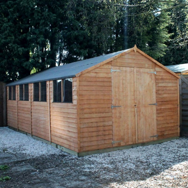 Mercia overlap apex garden shed 20 39 x 10 39 buy online for Apex garden sheds
