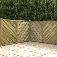 See more information about the Pressure Treated Fence Panel Chevron Weave H120cm W180cm