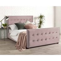 See more information about the Savannah Velvet Pink 3ft Single Bed Frame