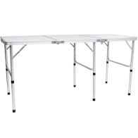 See more information about the Folding Lightweight Camping Triple Picnic Table L150cm - White