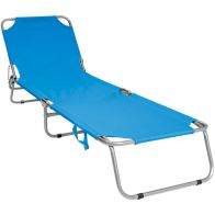 See more information about the Foldable Camping Beach Reclining Sun Lounger - Blue