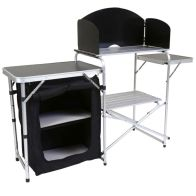 See more information about the Folding Kitchen Camping Storage Unit Portable Outdoor Cooking