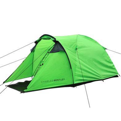 2 Man Waterproof Camping Tent & Awning Built Outdoor - Grey