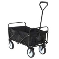 See more information about the Folding Wagon Black L87xW55xH59cm 70kg Load Trolley