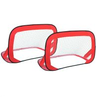 See more information about the 2x Pop Up Red Football Hockey Lightweight Training Goals & Carry Bag