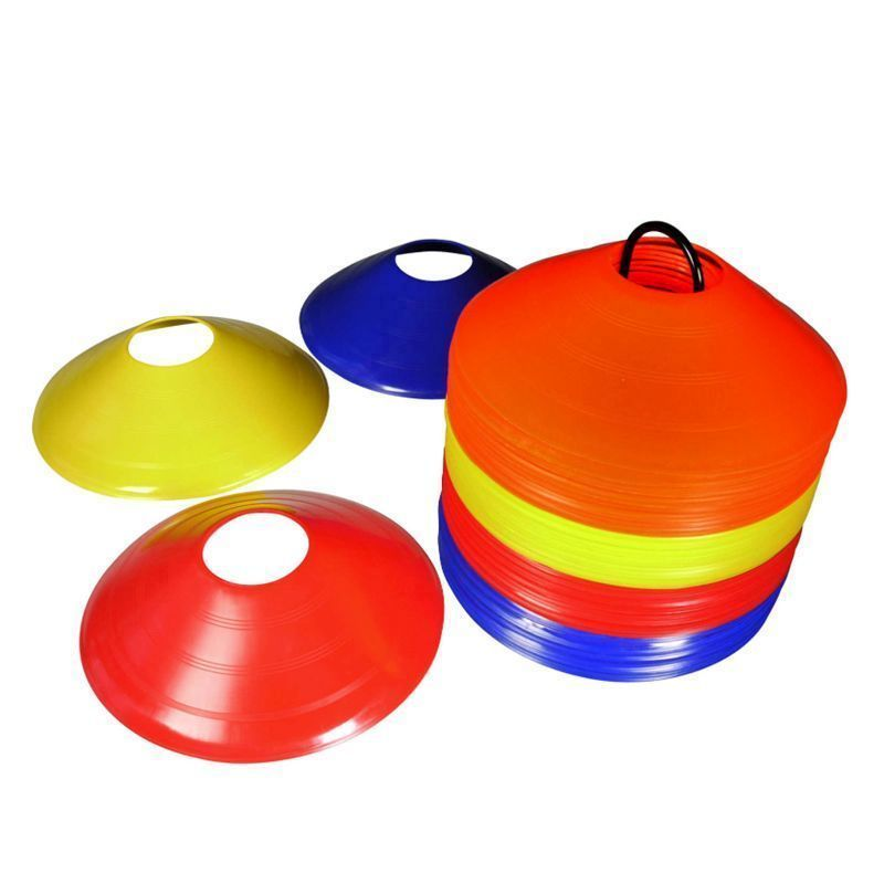 Pack Of 50 Multi Coloured Space Disc Training Marker with Stand