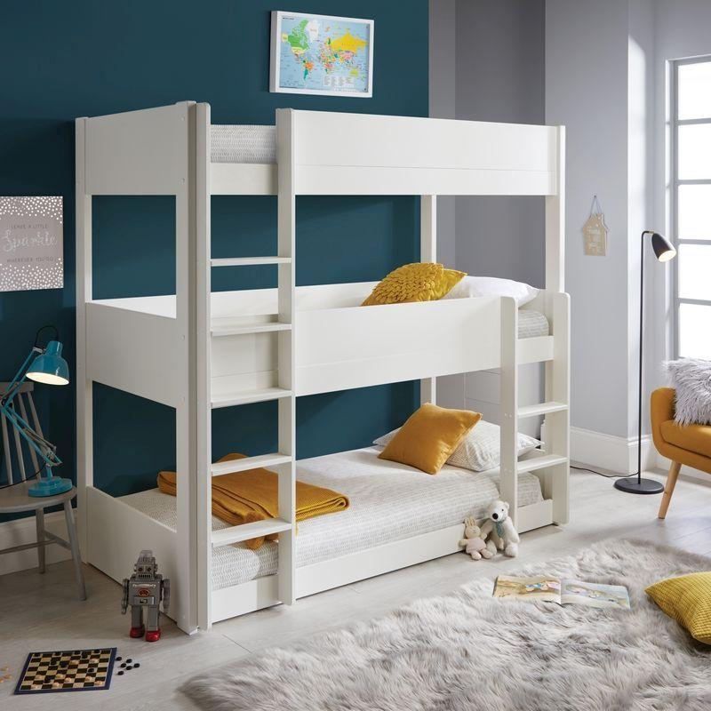 Snowdon Single Bunk Bed White Pine