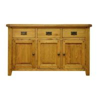See more information about the Montacute Oak 3 Door 3 Drawer Sideboard