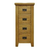 See more information about the Montacute Oak 4 Drawer Narrow Chest