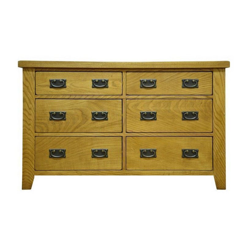 Montacute Oak 6 Drawer Chest