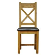 See more information about the Montacute Oak Crossback Chair PU Seat