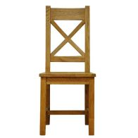 See more information about the Montacute Oak Crossback Chair Wooden Seat