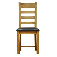 See more information about the Montacute Oak Ladderback Chair PU seat