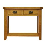 See more information about the Montacute Oak 2 Drawer Console Table
