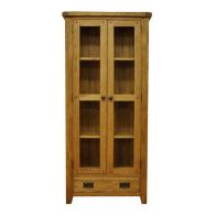 See more information about the Montacute Oak 2 Door 1 Drawer Display Cabinet
