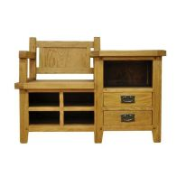 See more information about the Montacute Oak 2 Drawer Hall Bench