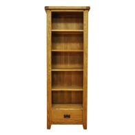 See more information about the Montacute Oak Large Narrow 1 Drawer 5 Shelf Bookcase