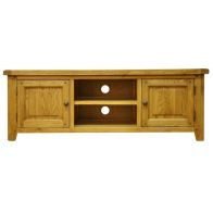 See more information about the Montacute Oak Large 2 Door 2 Shelf TV Unit