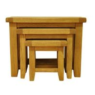 See more information about the Montacute Oak Nest of 3 Table