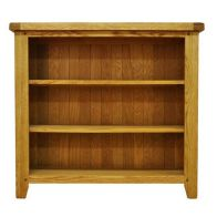 See more information about the Montacute Oak Small Wide 3 Shelf Bookcase