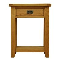 See more information about the Montacute Oak 1 Drawer Telephone Table