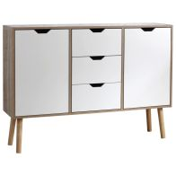 See more information about the Stockholm Sideboard White 2 Door 3 Drawer