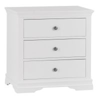 See more information about the Swafield White & Pine Chest Of 3 Drawers