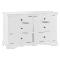 See more information about the Swafield White & Pine Chest Of 6 Drawers