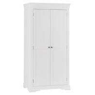 See more information about the Swafield Tall Wardrobe White & Pine 2 Door