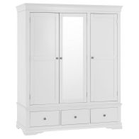 See more information about the Swafield Wardrobe White & Pine 3 Door 3 Drawer