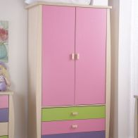 See more information about the Sydney 2 Door 3 Drawer Robe - Pink
