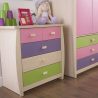 See more information about the Sydney 3+2 Drawer Chest - Pink