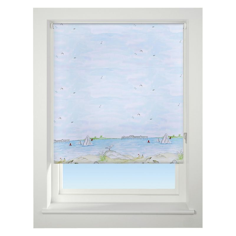 Universal 90cm Blue Sea View Daylight Roller Blind