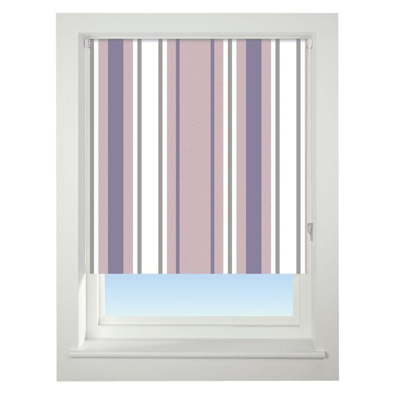 universal 60cm purple stripe blackout roller blind buy. Black Bedroom Furniture Sets. Home Design Ideas