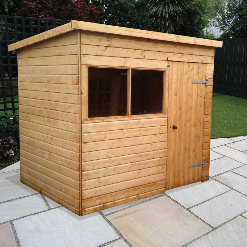Albany Sheds Major Pent 10' x 8' Pent Shiplap Wood Garden Shed