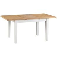 See more information about the Lighthouse Oak Top 1.2m - 1.65m Extending Dining Table White