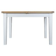 See more information about the Lighthouse Oak Top Butterfly Table (1.2m to 1.65m) - White